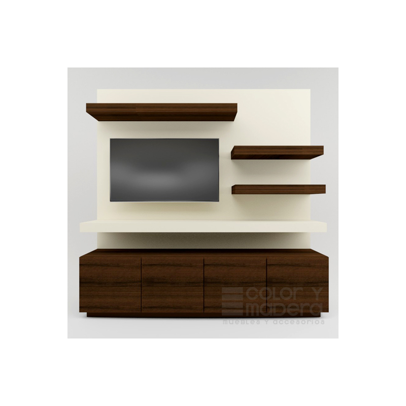 Mueble de TV Contempo Nogal