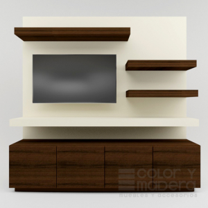 Mueble de TV Contempo Nogal
